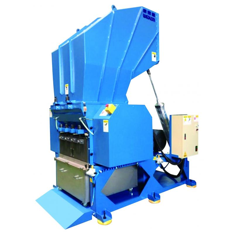 The Powerful Plastic Shredding Machine is major for crushing the various runners, sprues and defected products from plastic injection molding machine.