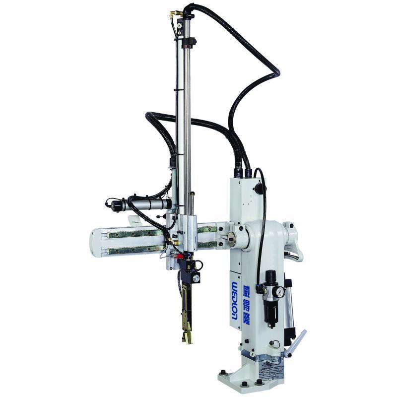 旋臂式機械手臂控制系統完全符合CE、SPI與EUROMAP的國際完全規範,可安全與全世界射出機電控系統共容。