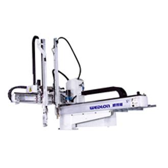 小型サーボ横走行式ロボットアーム、50T ~ 450Tプラスチック射出成形機に広く応用されています。